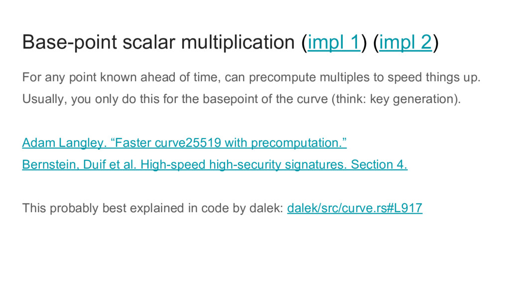 Base-point scalar multiplication (impl 1) (impl...
