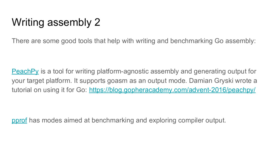 Writing assembly 2 There are some good tools th...