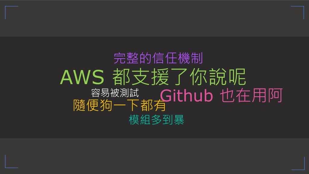 """""""  Github ! AWS ..."""