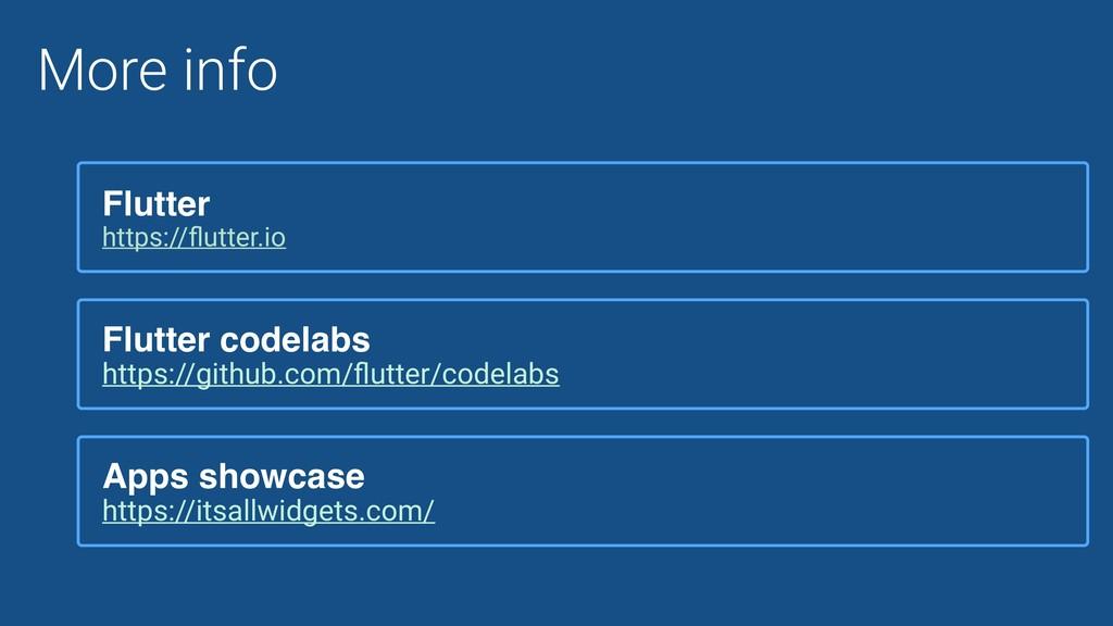 More info Flutter https://flutter.io Flutter cod...