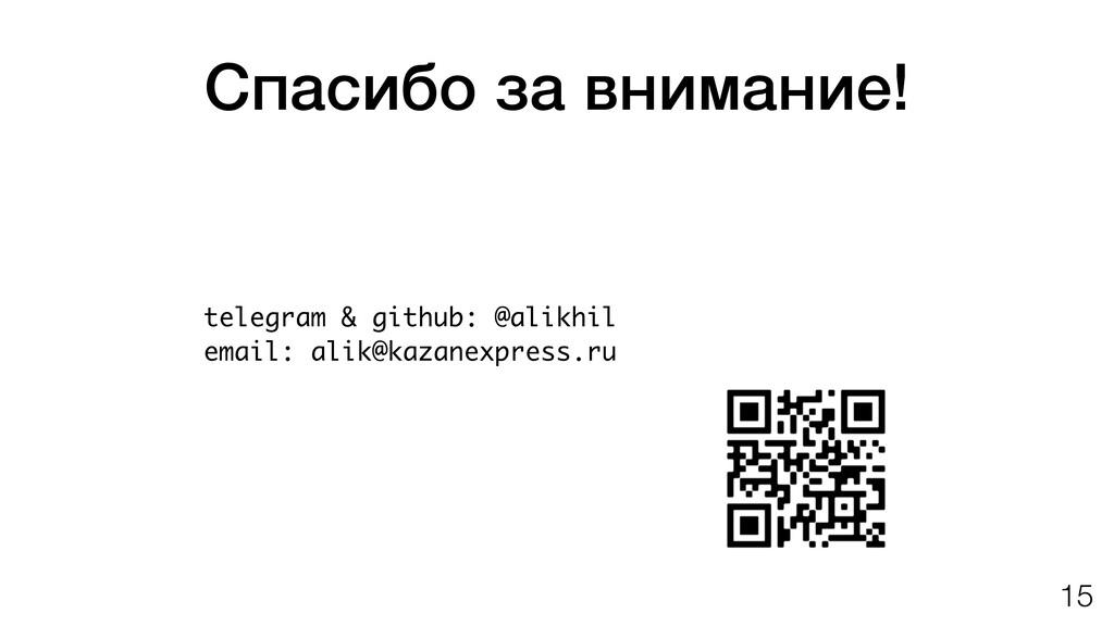 Спасибо за внимание! telegram & github: @alikhi...