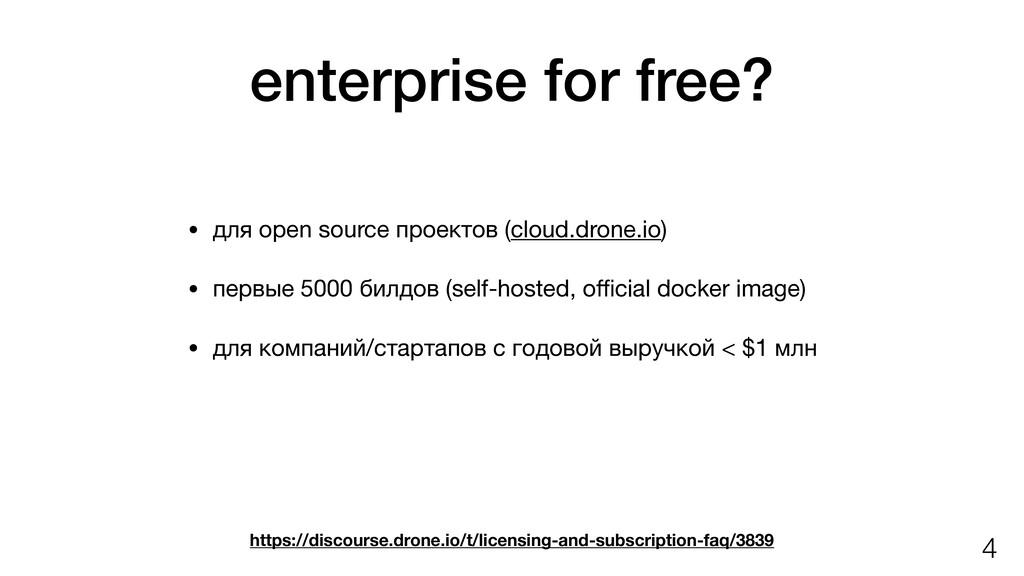enterprise for free? • для open source проектов...