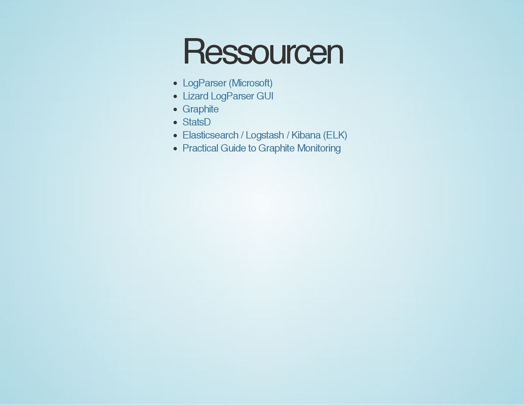 Ressourcen LogParser (Microsoft) Lizard LogPars...