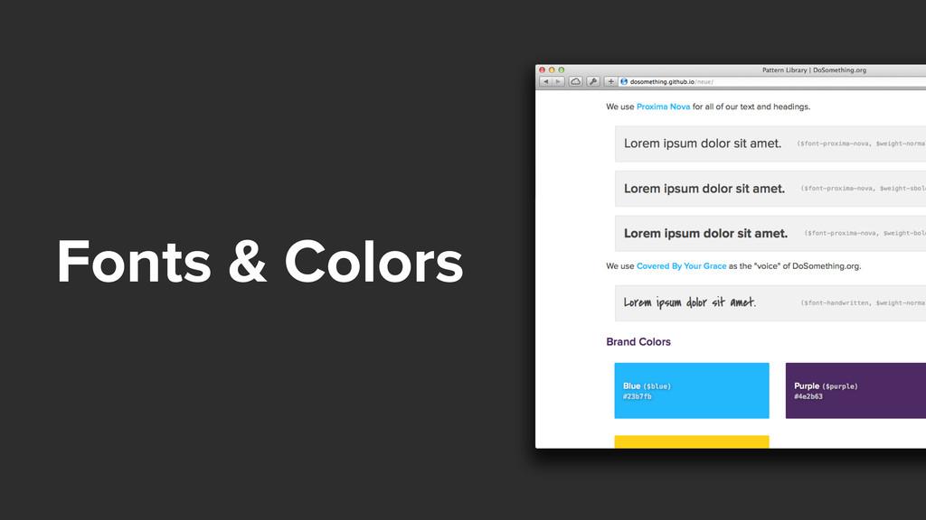 Fonts & Colors