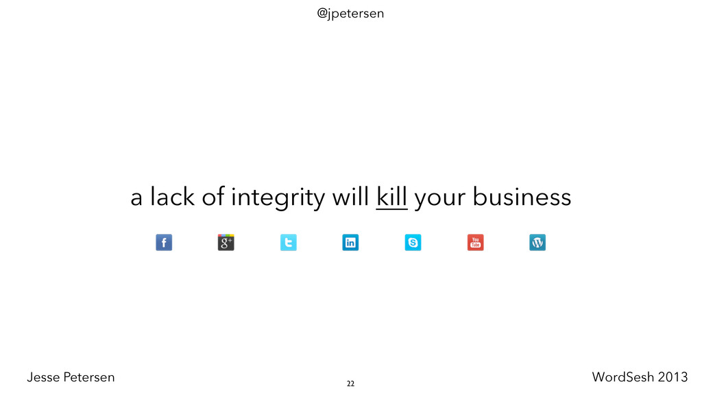 a lack of integrity will kill your business 22 ...