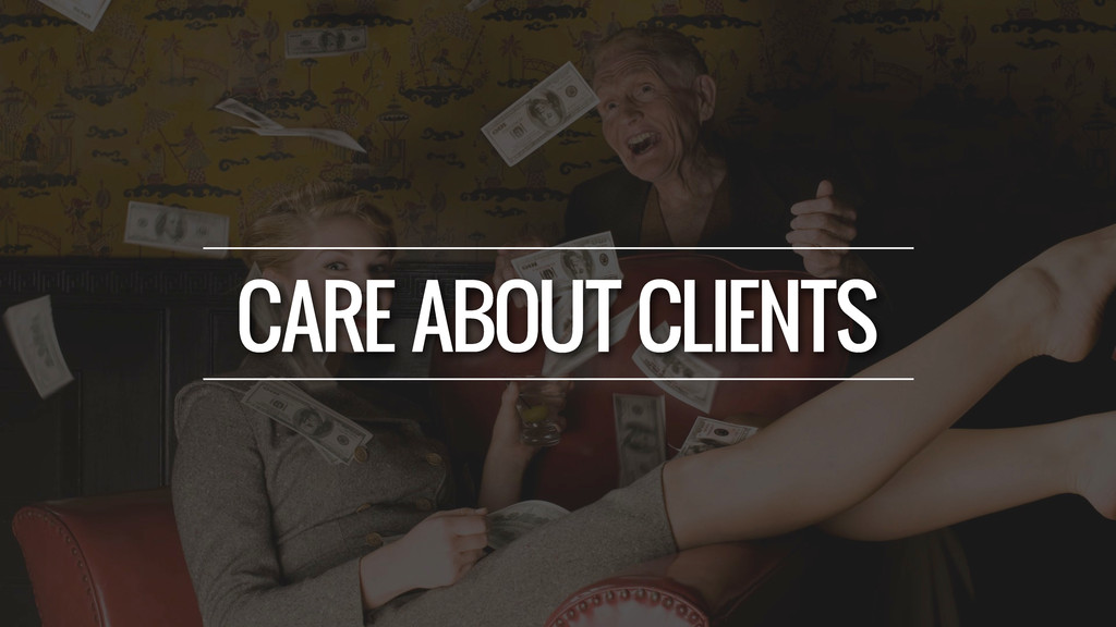 CARE ABOUT CLIENTS