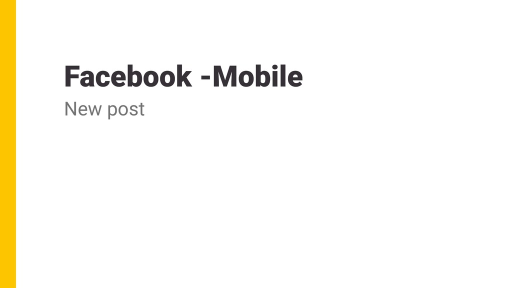 Facebook -Mobile New post