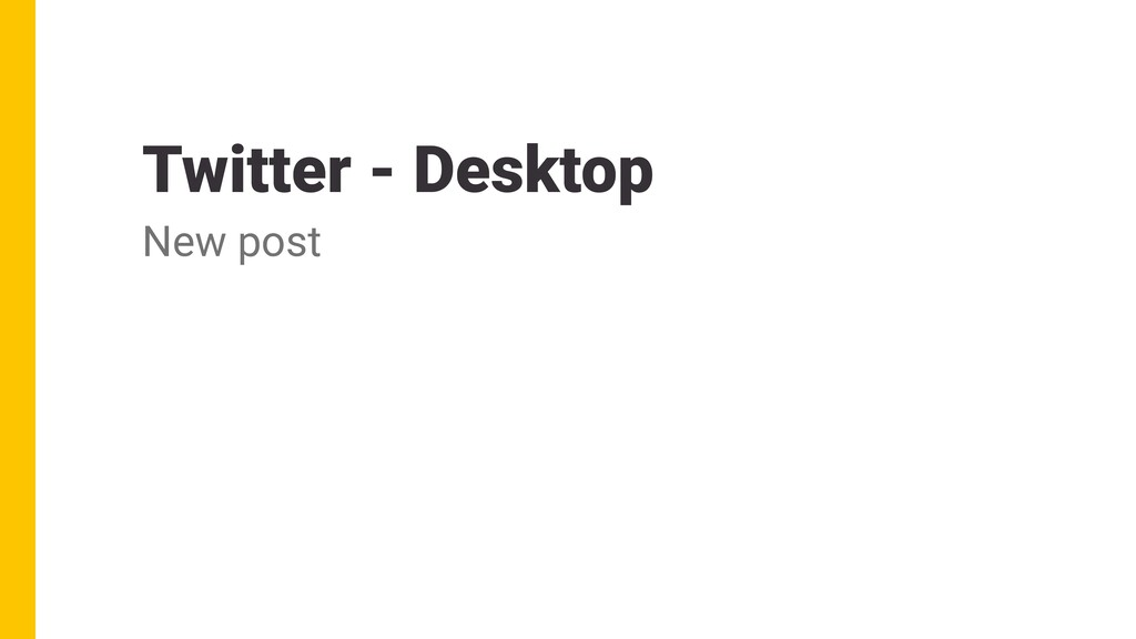 Twitter - Desktop New post