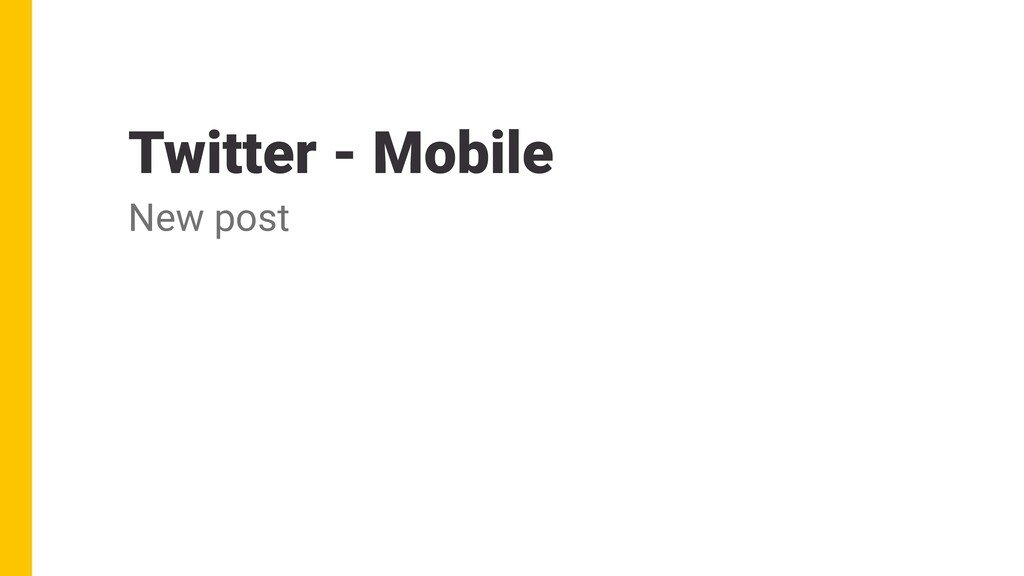 Twitter - Mobile New post