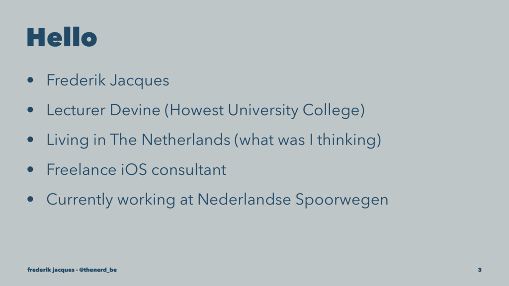 Hello • Frederik Jacques • Lecturer Devine (How...