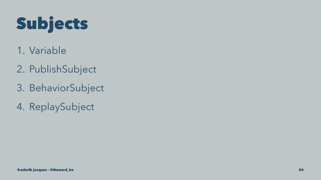 Subjects 1. Variable 2. PublishSubject 3. Behav...