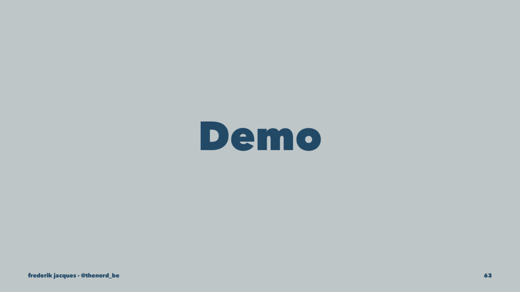 Demo frederik jacques - @thenerd_be 63