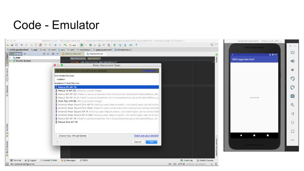Code - Emulator