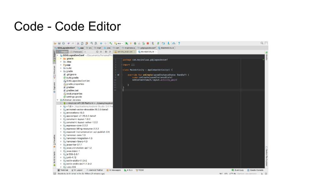 Code - Code Editor