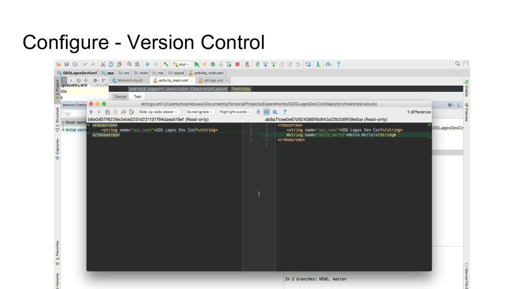 Configure - Version Control