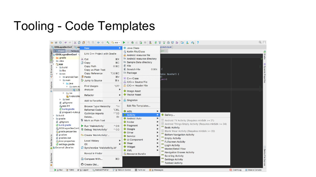 Tooling - Code Templates