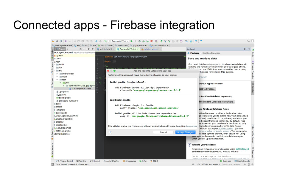 Connected apps - Firebase integration
