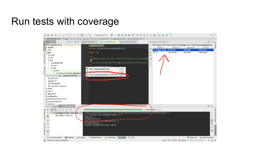 Run tests with coverage