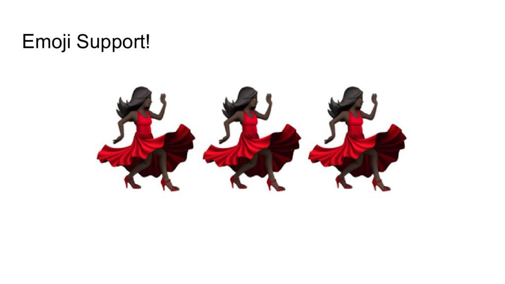 Emoji Support!