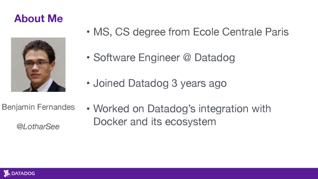 About Me • MS, CS degree from Ecole Centrale Pa...