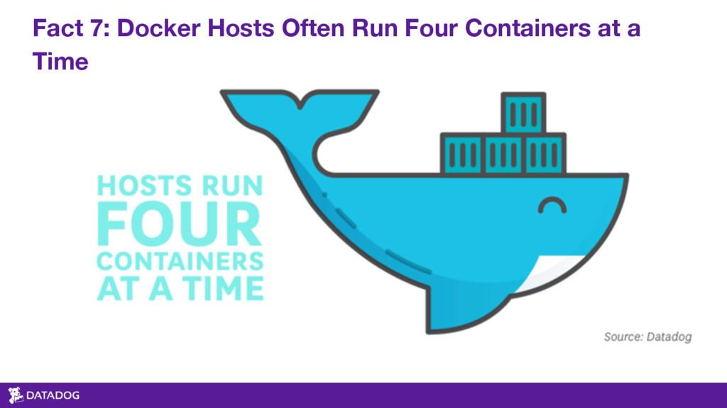 Fact 7: Docker Hosts Often Run Four Containers ...