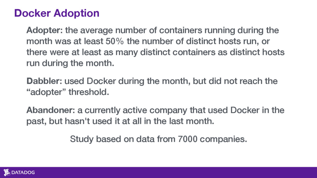 Adopter: the average number of containers runni...