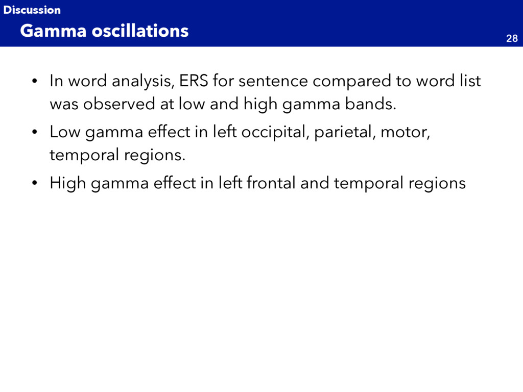 • In word analysis, ERS for sentence compared t...