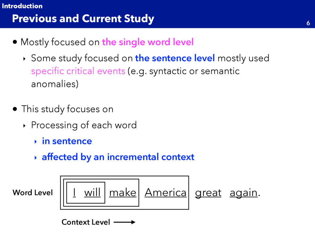 • Mostly focused on the single word level ‣ Som...