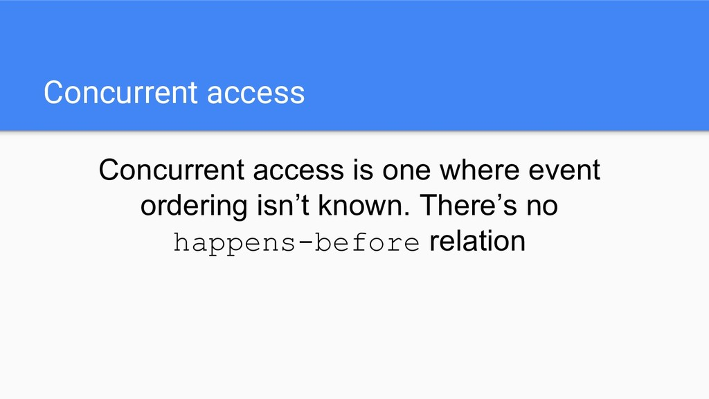 Concurrent access Concurrent access is one wher...