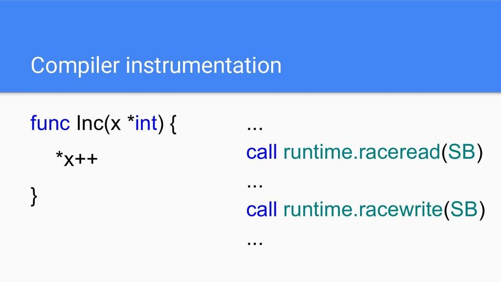 func Inc(x *int) { *x++ } Compiler instrumentat...