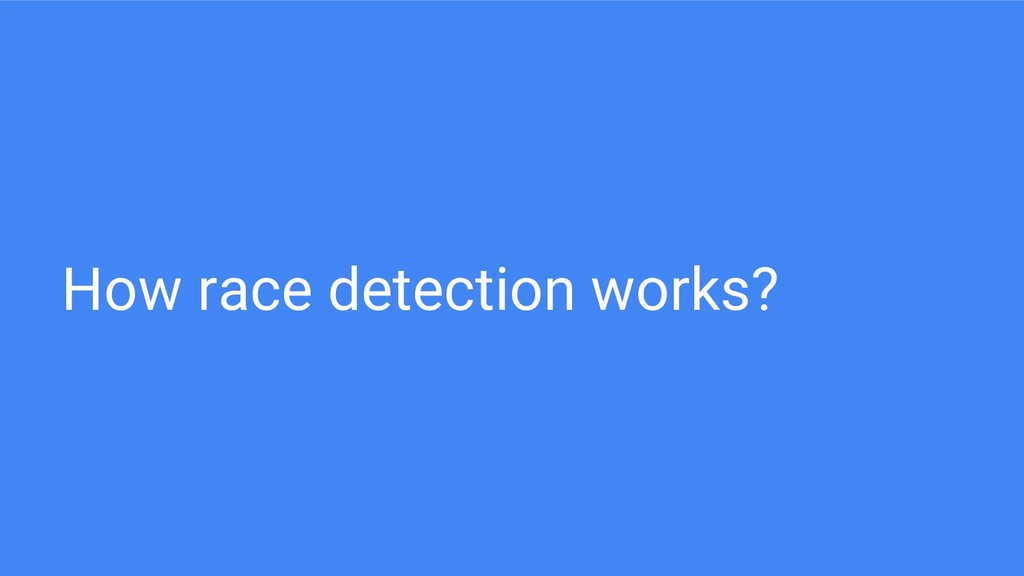 How race detection works?