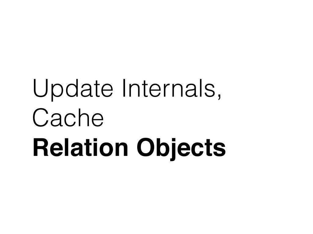 Update Internals, Cache Relation Objects