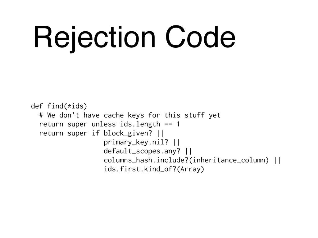Rejection Code def find(*ids) # We don't have c...
