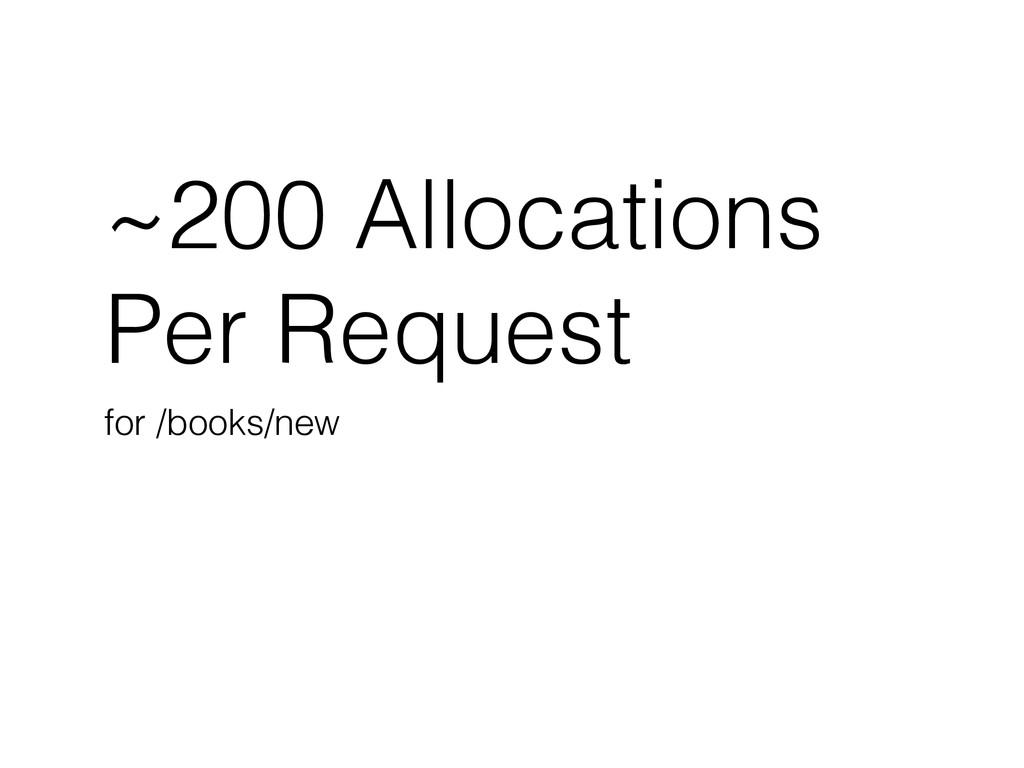 ~200 Allocations Per Request for /books/new