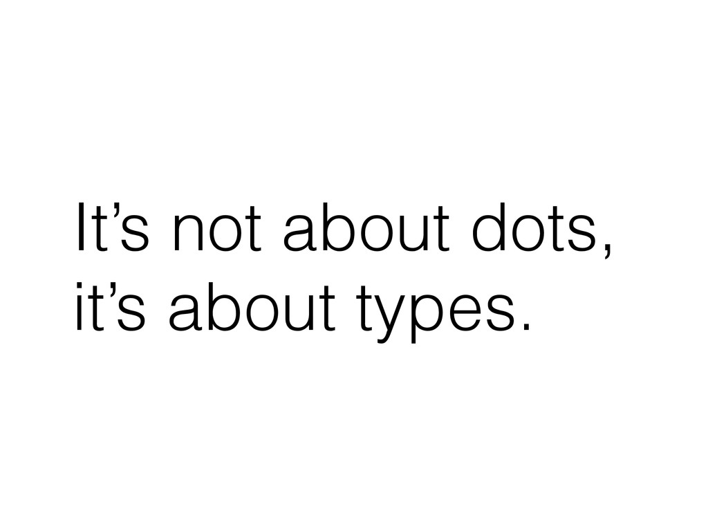 It's not about dots, it's about types.