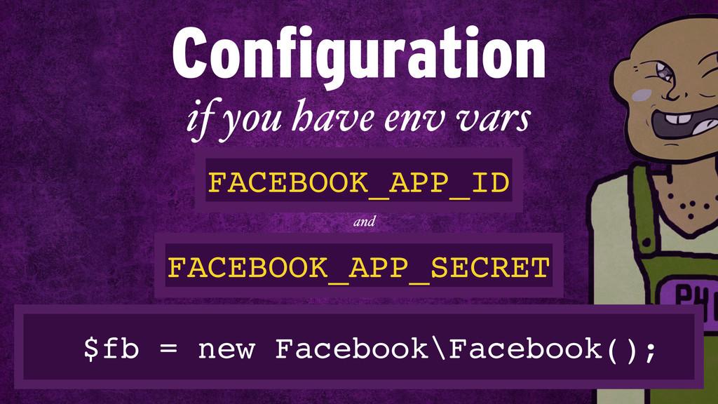$fb = new Facebook\Facebook(); if you have env ...