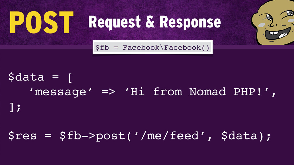 $data = [! ! ! 'message' => 'Hi from Nomad PHP!...