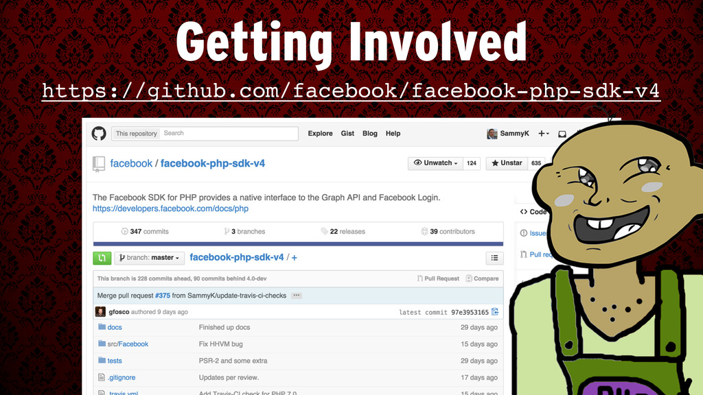 Getting Involved https://github.com/facebook/fa...