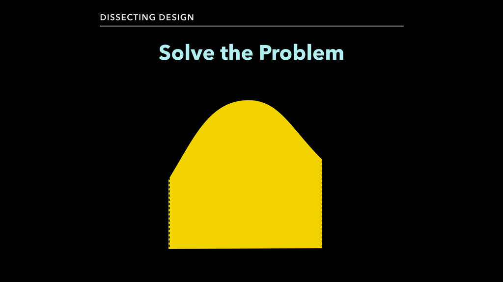 Solve the Problem DISSECTING DESIGN
