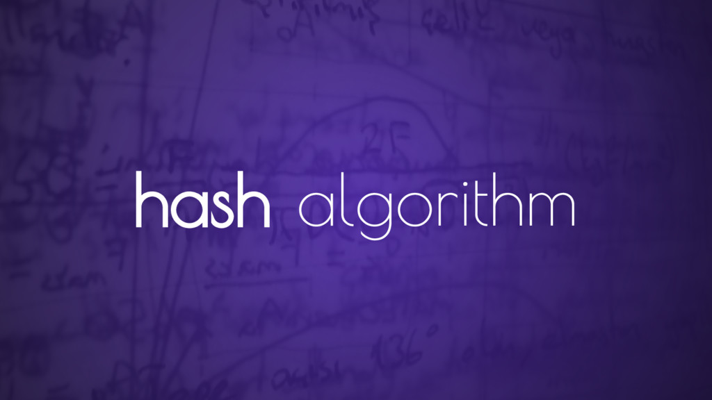 hash algorithm