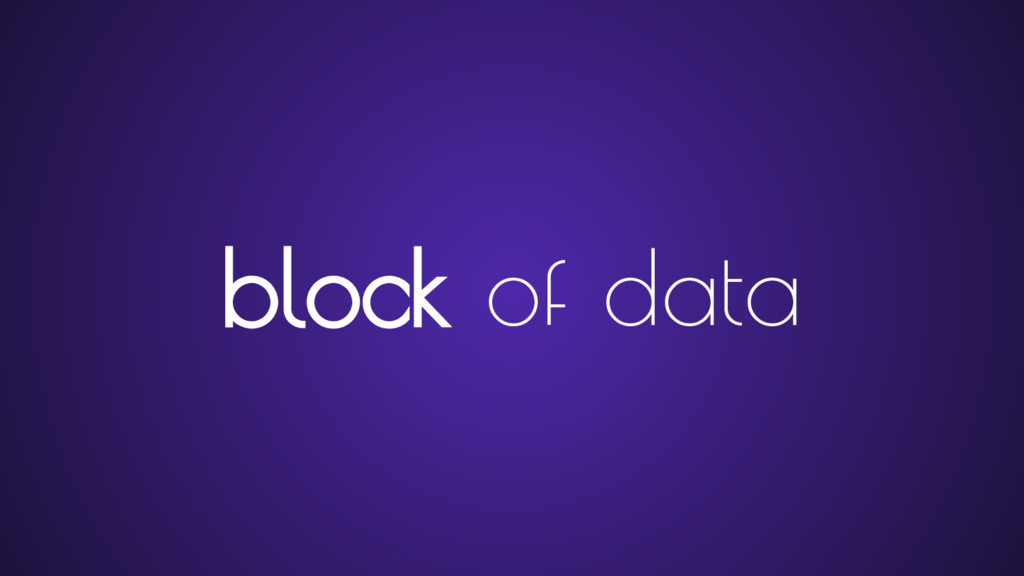 block of data
