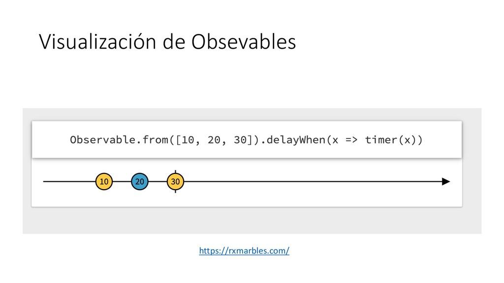 Visualización de Obsevables https://rxmarbles.c...