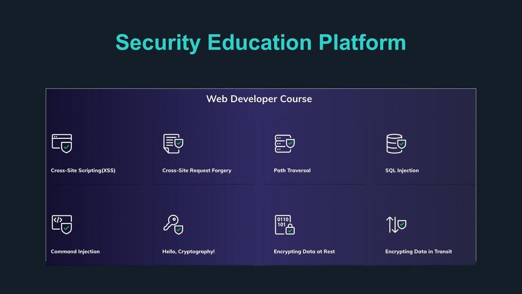 Security Education Platform