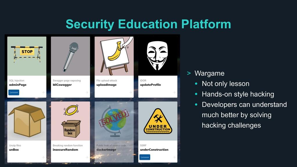 Security Education Platform > Wargame • Not onl...