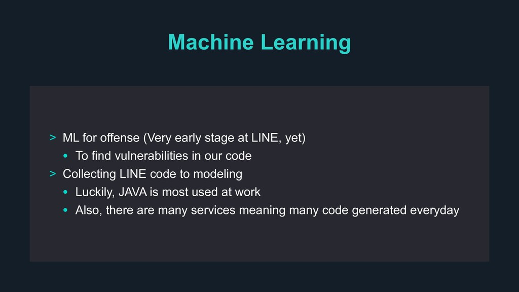 Machine Learning > ML for offense (Very early s...