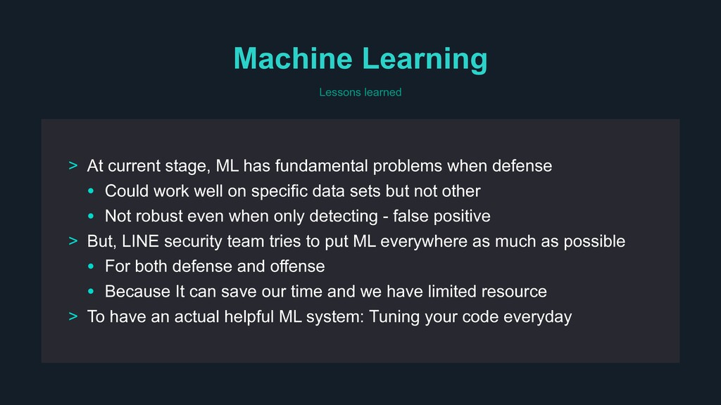 Machine Learning > At current stage, ML has fun...