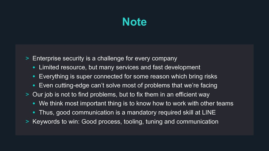 Note > Enterprise security is a challenge for e...