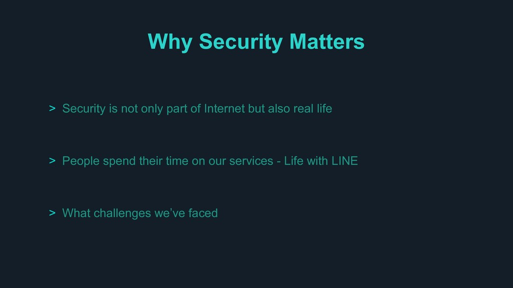 Why Security Matters > Security is not only par...