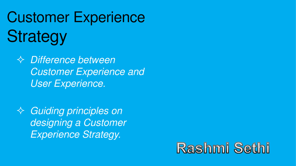 Customer Experience Strategy  Difference betwe...