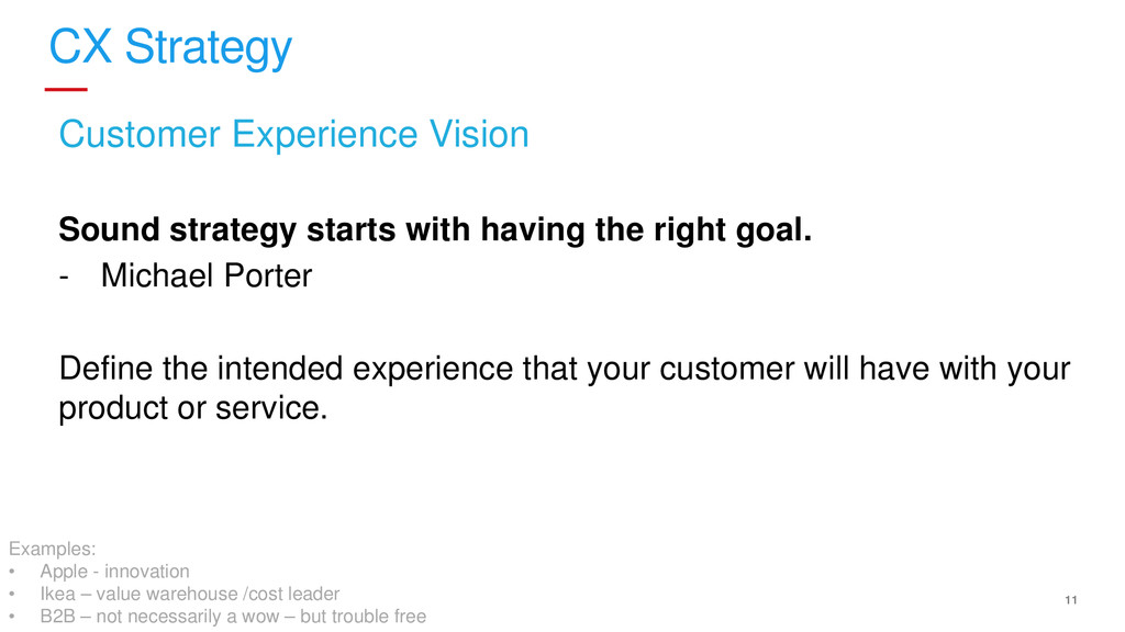 11 CX Strategy Customer Experience Vision Sound...